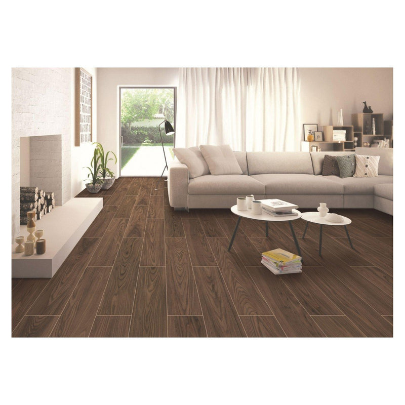Pine Wood Cherry 20x120cm Porcelain Wall and Floor Tile (Wood Collection)