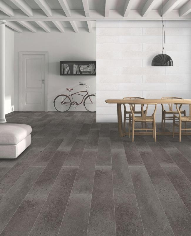 Quartz Anthracite 20x120cm Porcelain Wall and Floor Tile (Wood Collection)
