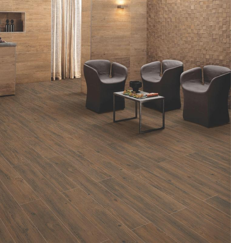 Valmont Coffee 20x120cm Porcelain Wall and Floor Tile (Wood Collection)