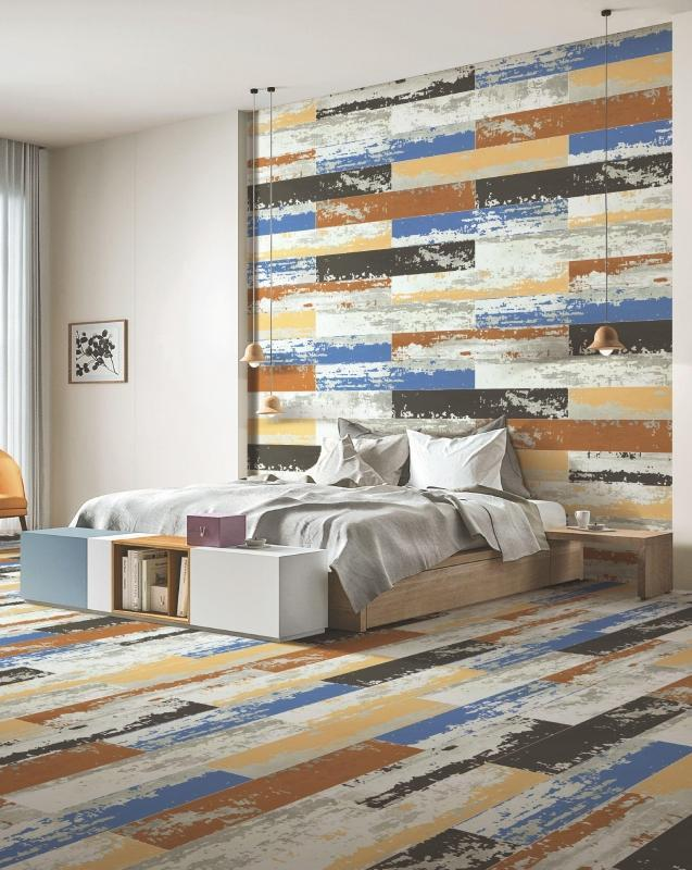 Vibrant Azul 20x120cm Porcelain Wall and Floor Tile (Wood Collection)