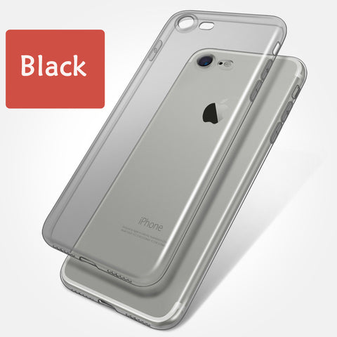 Clear Silicon Case - Black - CaseifyYourLife