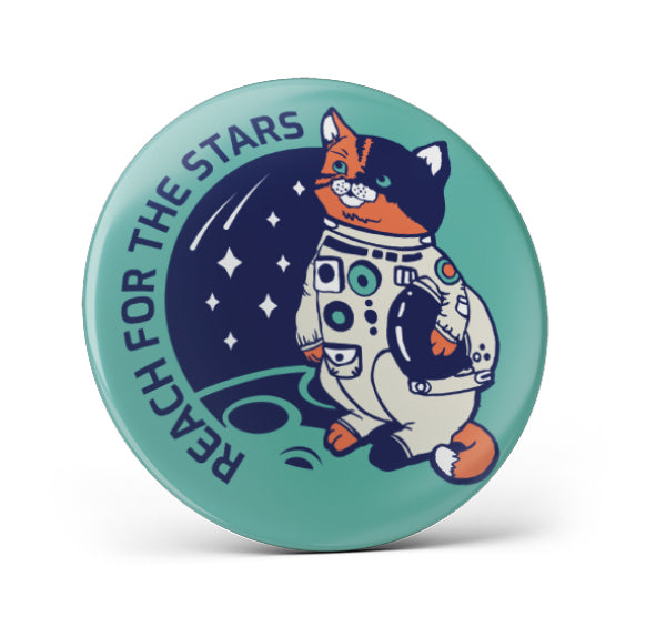 Mission Cat Pin Button