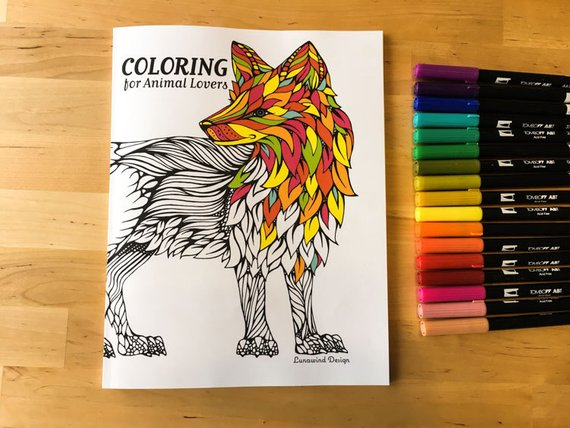 Coloring Book for Animal Lovers