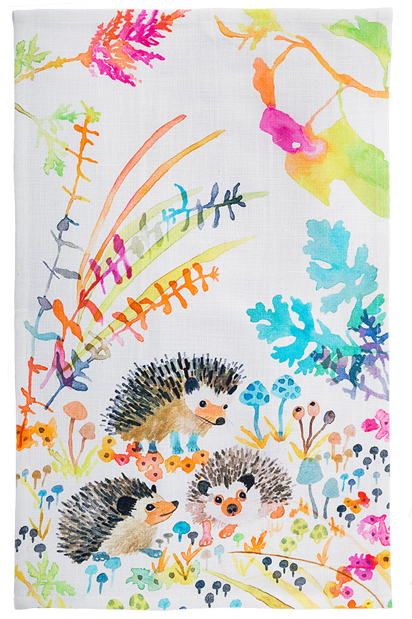 Hedgehogs Tea Towel