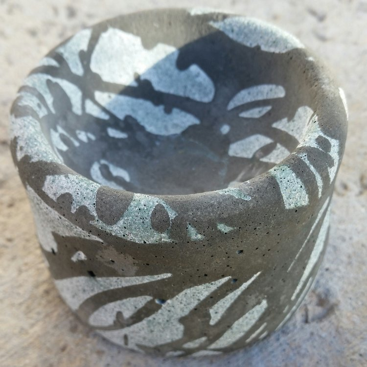 Urban Marble Concrete Candle Bowl
