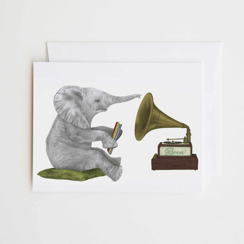 Newton Chapel African Elephant Greeting Card