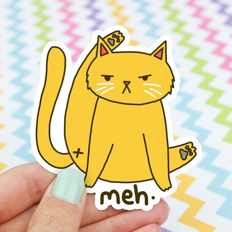Funny Cat Butt Vinyl Sticker