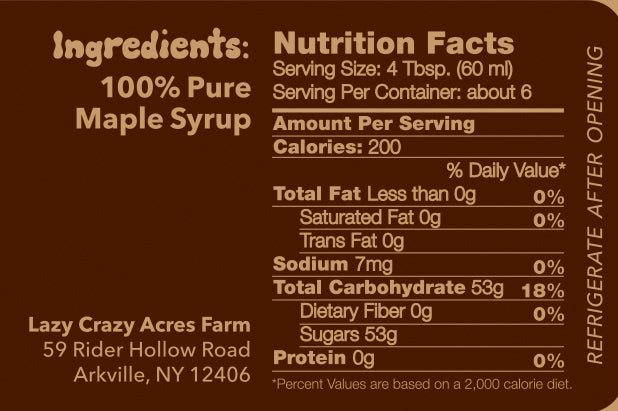 Tree Juice Maple Syrup - 2oz Pure Tree Juice Maple Syrup
