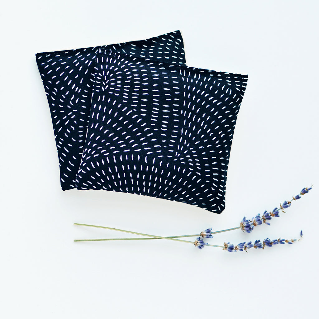 Minor Thread - Organic Lavender Sachets in Thicket Black - Set of 2