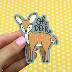 Oh Deer Vinyl Sticker