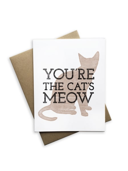 You're The Cats Meow Notecard