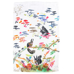 Black Squirrel Tea Towel