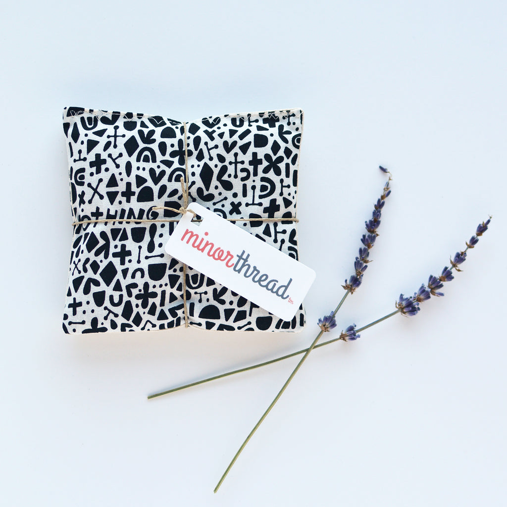 Minor Thread - Organic Lavender Sachets in Kindred Credo Black - Set of 2