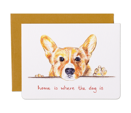 Home Corgi Dog Greeting Card
