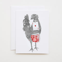 lecanotrouge - Petey Duval Key West Gypsy Rooster Greeting Card