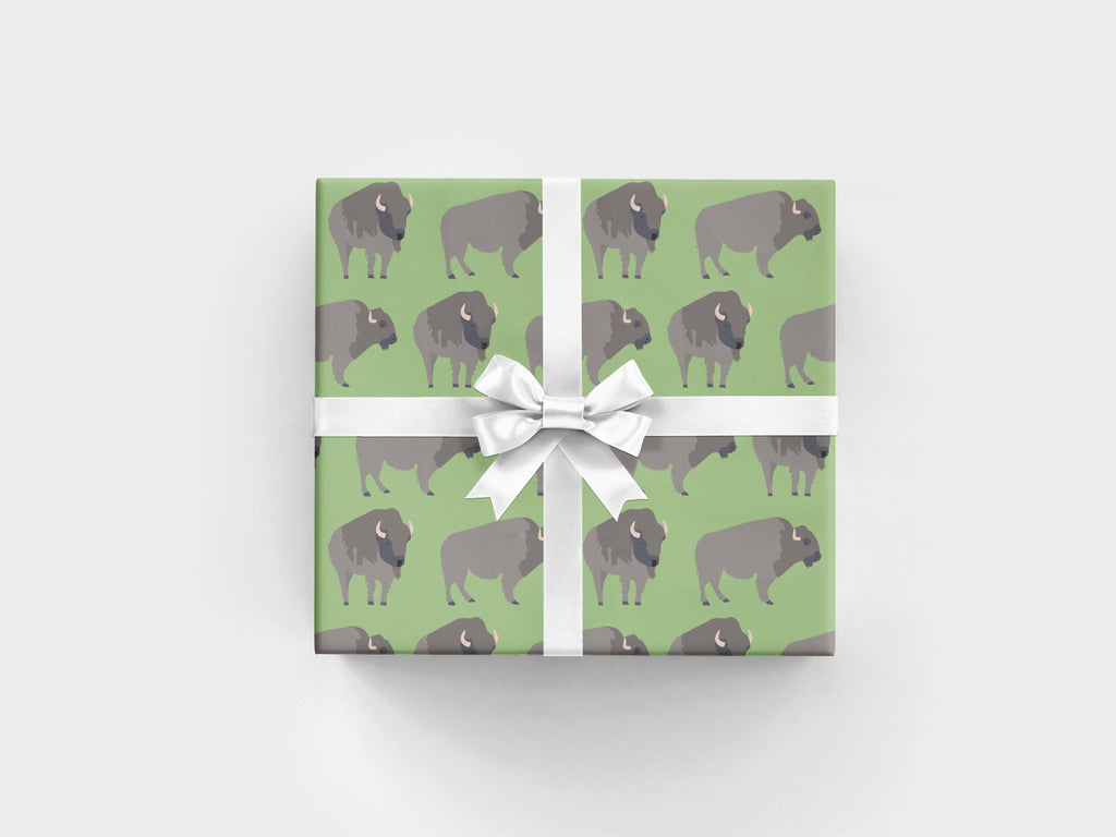 Buffalo Wrapping Paper Sheet