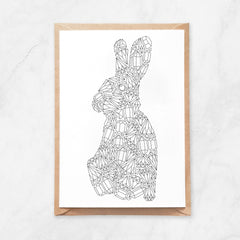 Anna Grunduls Design - Gemstones Rabbit Coloring Postcard