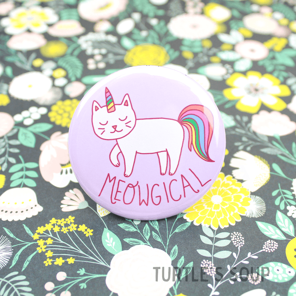 Meowgical Cat Unicorn Pinback Button