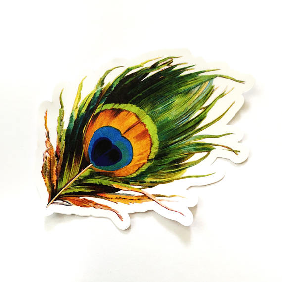 Pergamo Paper Goods - Peacock Feather Sticker