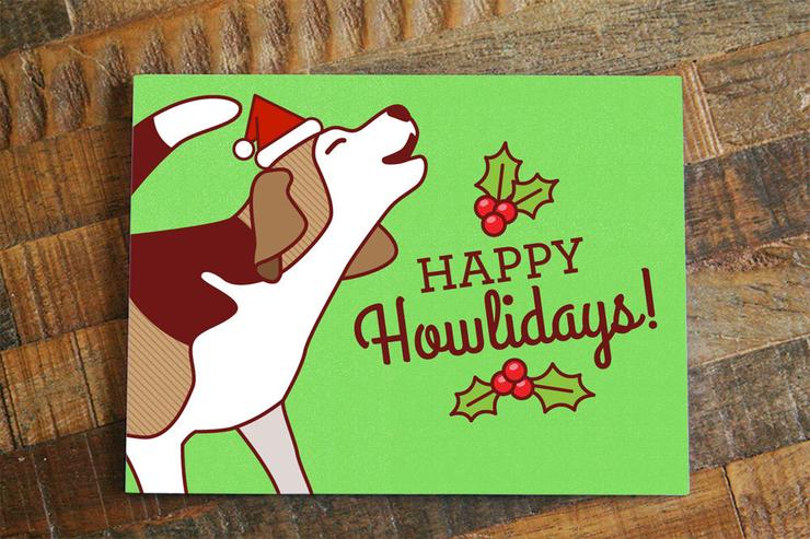 Tiny Bee Cards - Happy Howlidays Card