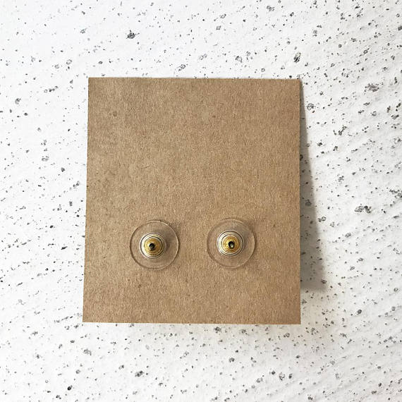 Eyes with Tears Antique Brass Post Earrings