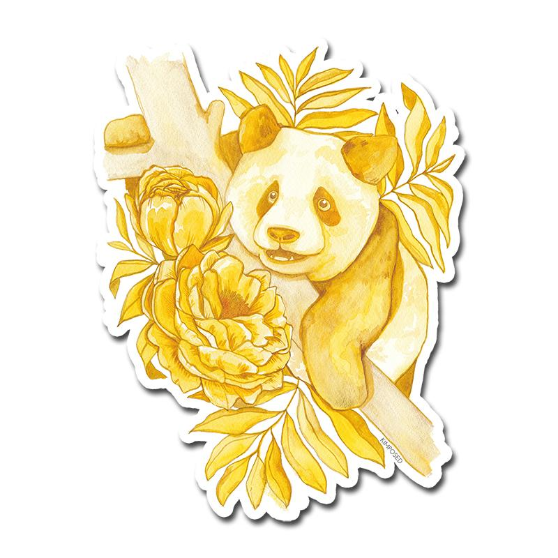 Golden Panda Sticker