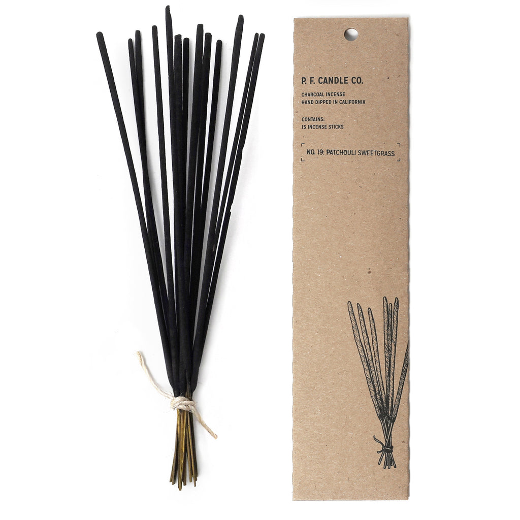 P.F. Candle Co. - Patchouli Sweetgrass Incense - Pack of 15