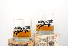 The Fox and Hare Whiskey Glasses 11oz. Tumblers