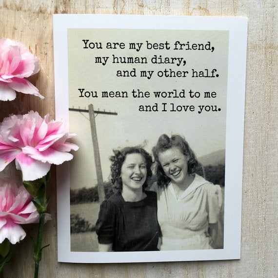 You Are My Best Friend Vintage Photo Greeting Card