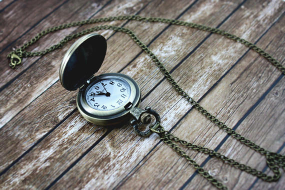 Compass Pocket Watch Necklace