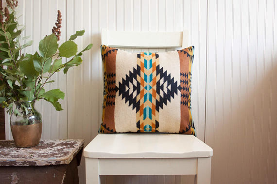 Tribal Pillow Cover in Pendleton Wool