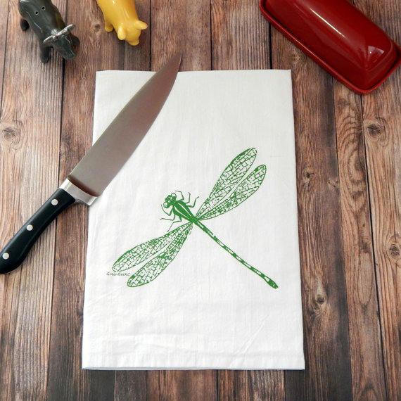 Dragonfly Flour Sack Tea Towel