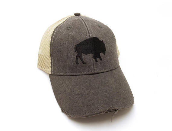Buffalo or Moose Silhouette Trucker Hat