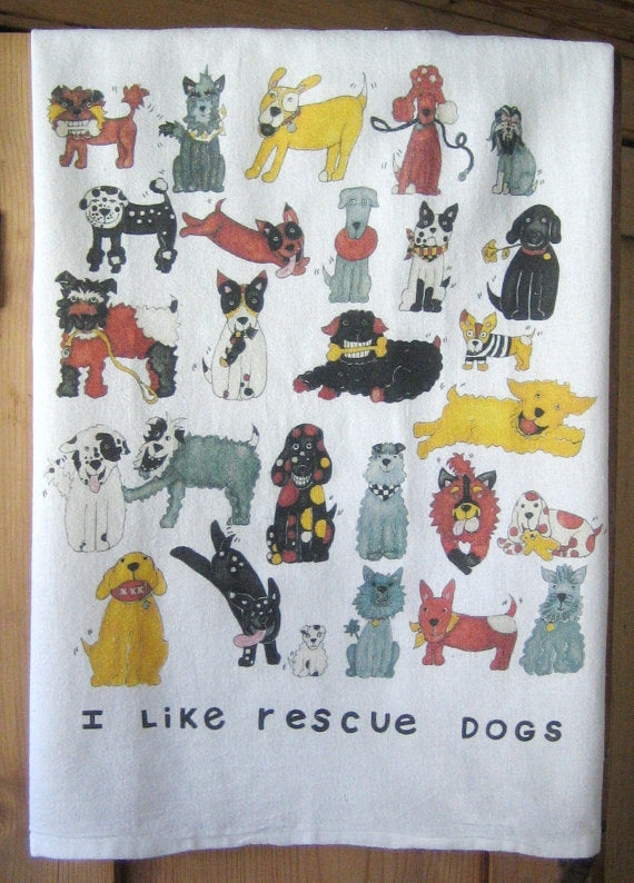 Rescue Dogs Flour Sack Kitchen Towel