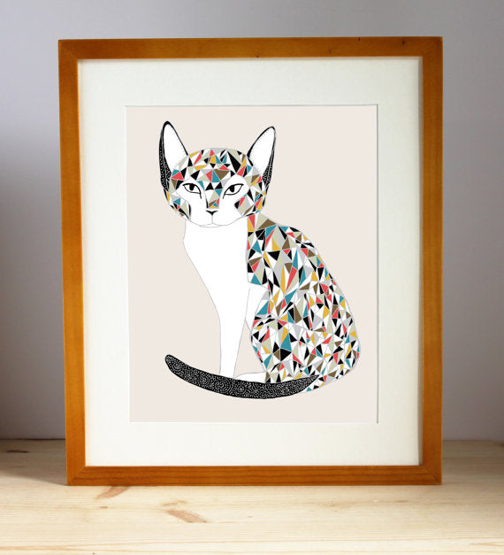 Calico Cat Illustration By Stacie Bloomfield