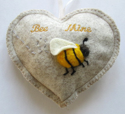 Felted Bee Mine Heart