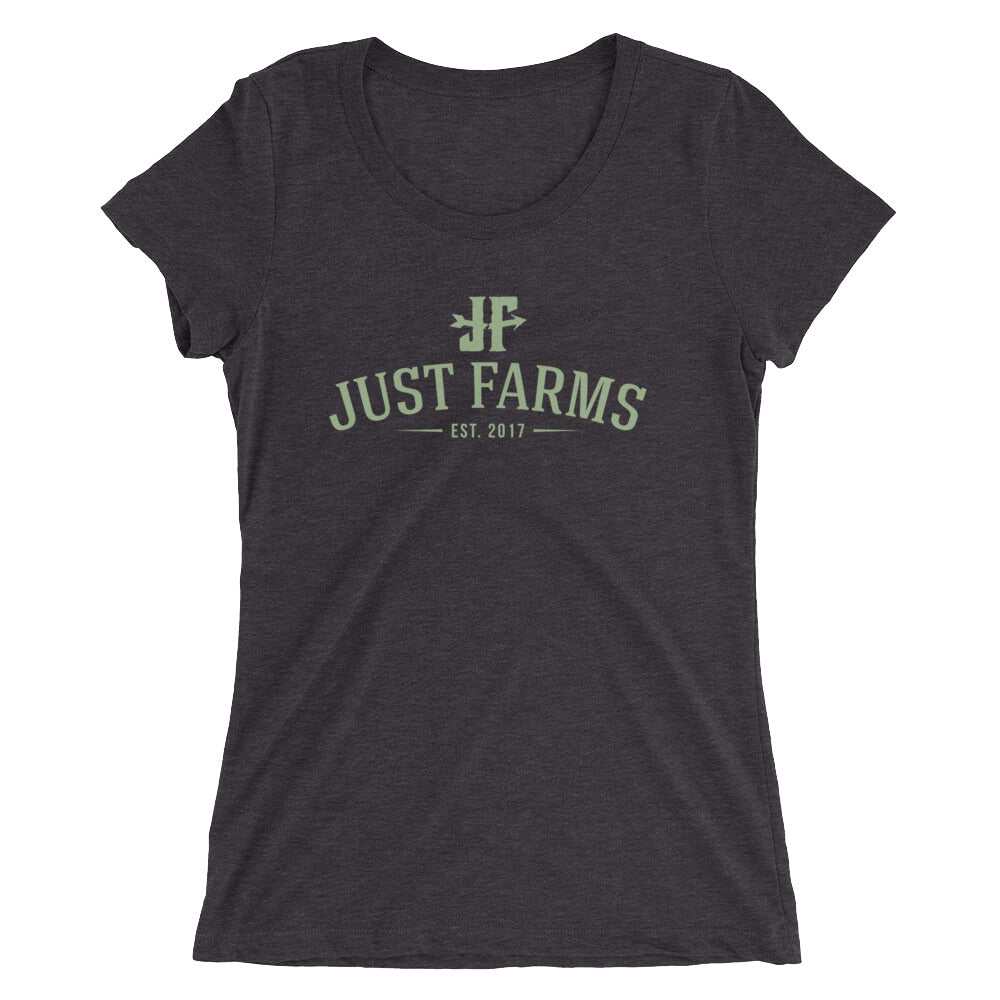 Just Farms Green Logo Ladies' short sleeve t-shirt
