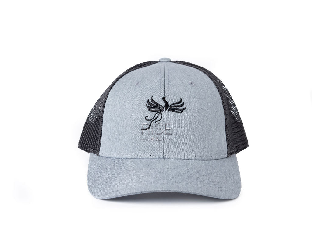 RISE-HAI EMBROIDERED LOGO TRUCKER SNAPBACK CAP