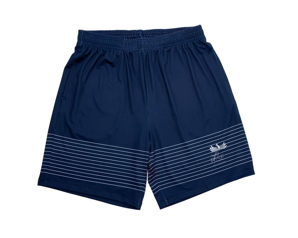 HAI-LITE SPORTS STARS AND STRIPES PERFORMANCE SHORTS NAVY