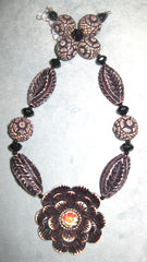 New, Flower/Antique Necklace