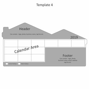 House Double Peak Roof Calendar Magnet 94mm x 194mm - Clever Calendar Magnets