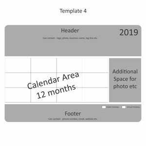 Rectangle Calendar Magnet 140mm x 196mm - Clever Calendar Magnets