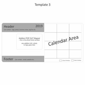 Rectangle Photo Calendar Magnet With Bonus Pop Out 94mm x 196mm - Clever Calendar Magnets