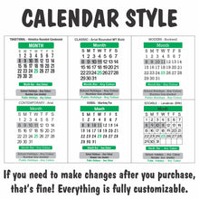 Memo Set Rectangle Calendar Magnet 140mm x 196mm - Clever Calendar Magnets