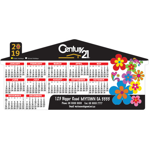 House Single Peak Roof Calendar Magnet 97mm x 204mm - Clever Calendar Magnets