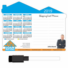 Memo Set Rectangle Calendar Magnet 148mm x 196mm - Clever Calendar Magnets