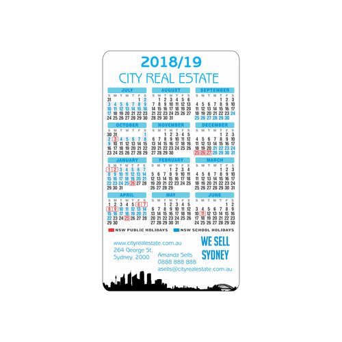 Rectangle Calendar Magnet 144mm x 82mm - Clever Calendar Magnets