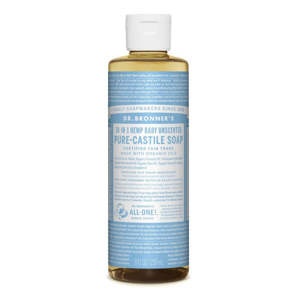 Dr. Bronner Baby Ünscented  Castile 18 in1 237ml
