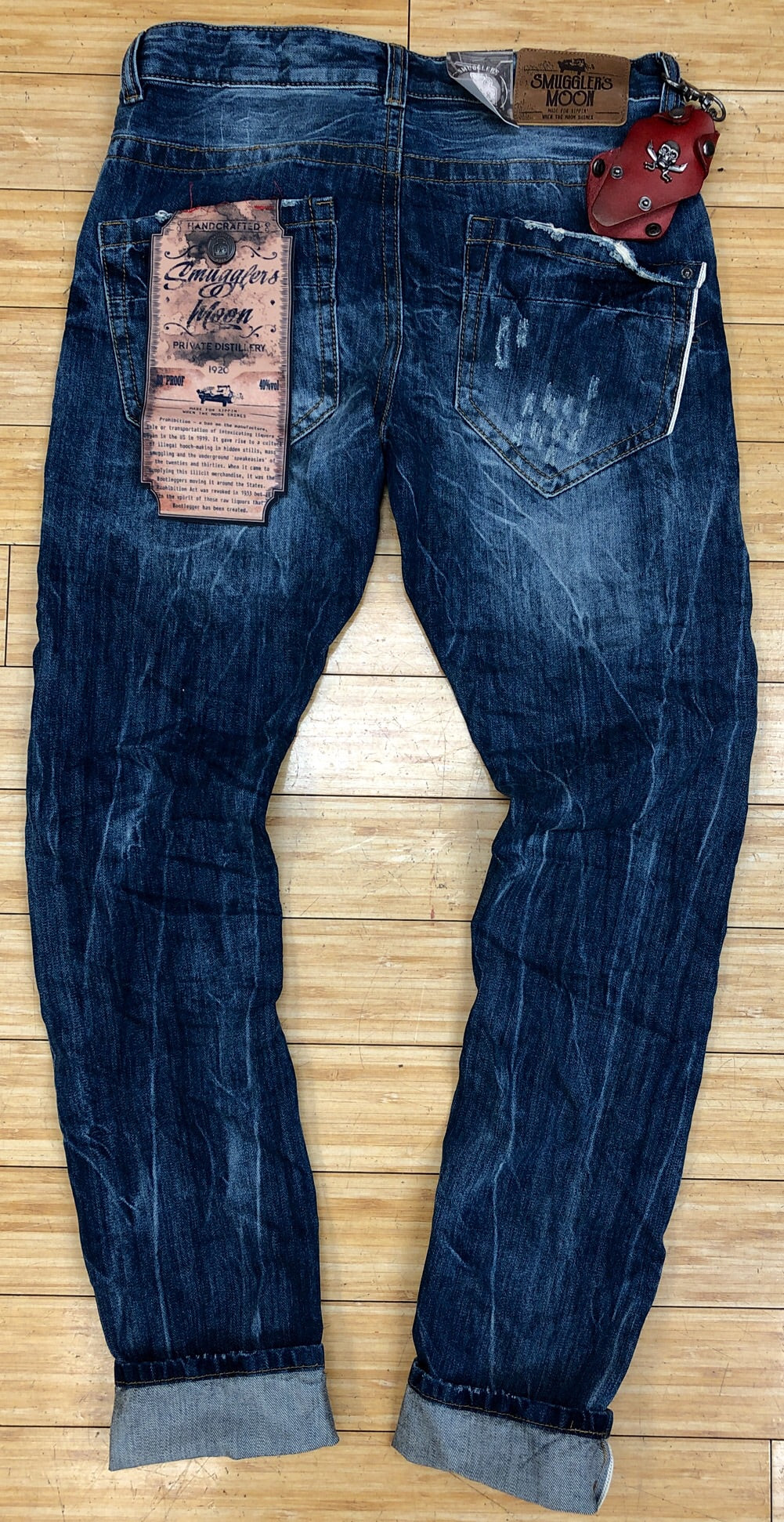 Smugglers- blue smuggler patch denim jeans