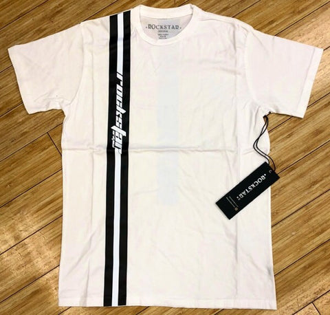 ROCKSTAR-WHITE BLACK SMITH SS TEE